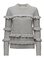 RIB RUFFLE SWEATER