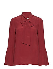 BELL SLV SILK TOP - MAROON