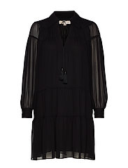 CRINKLE GGT DRESS - BLACK