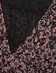 Michael Kors - DAINTY BLM TOP - blouses met lange mouwen - dark ruby - 2
