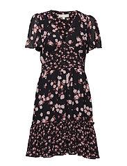 ROSE PRINT MIX DRESS - BLK/DSTYROSE