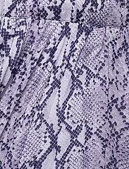 Michael Kors - SAT SNAKE PLTED SKIRT - midi rokken - lavendermist - 2