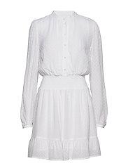CLIP DOTS JQD DRESS - WHITE