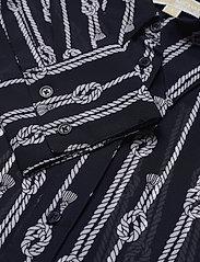 Michael Kors - SPACED SAILOR OVER SZ TOP - overhemden met lange mouwen - mdntbl/wht - 2