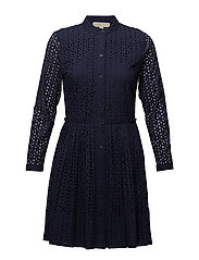 DAISY EYELET DRESS - TRUE NAVY
