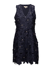 FLORAL LACE DRESS - TRUE NAVY