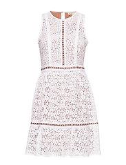 MINI MOD FLRL DRESS - WHITE