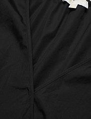 Michael Kors - COTTON POPLIN WRAP TP - blouses met lange mouwen - black - 2