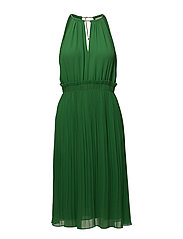 CHAIN MIDI DRESS - TRUE GREEN