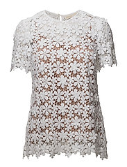 FLORAL LACE MIX TSHRT - WHITE