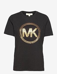 MK CRCL CLSSC TSHRT - t-shirts - blk/antqbrss