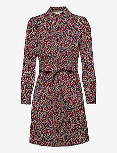 LUSH PSLY GARDN DRESS - robes midi - dark ruby