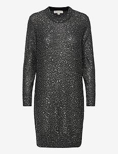 SEQUIN LS MINI DRESS - hverdagskjoler - silver