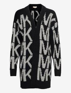 INTARSIA MK CARDIGAN - cardigans - black