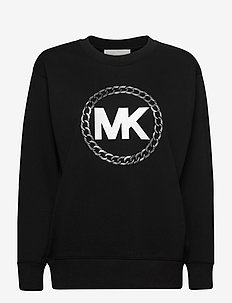 HT CHAIN MK LOGO SWTS - sweaters - blk/silver