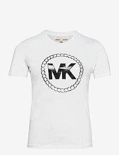 ELV HT CHAIN LOGO T - t-shirts - white