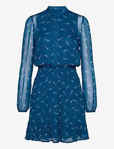 SIG LOGO PRINT DRESS - alledaagse jurken - river blue