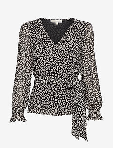 LUX CAT WRAP TOP - black/bone