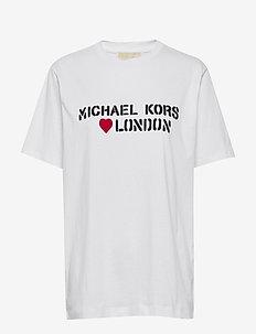 MK LONDON HRT UNSX T - WHITE