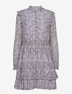 TIERED SHIRT DRESS - LAVENDERMIST