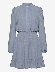CLIP DOTS JQD DRESS - skjortekjoler - chambray