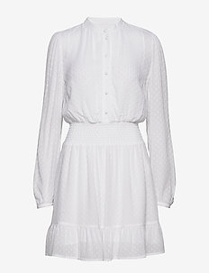 CLIP DOTS JQD DRESS - WHITE