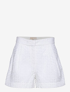 EYELET PLEATED SHRT - shorts casual - white