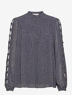 MINI FLORAL LS TOP - blouses met lange mouwen - mdntbl multi