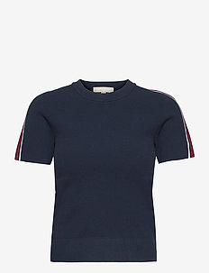 TXTR LOGO TAPE SS SWTR - t-shirts - midnightblue
