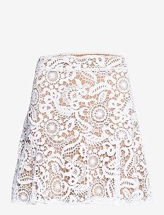 GRVY LACE MINI SKIRT - korte rokken - white