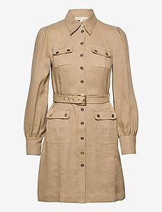 HEMP UTILITY MINI DRESS - blousejurken - khaki