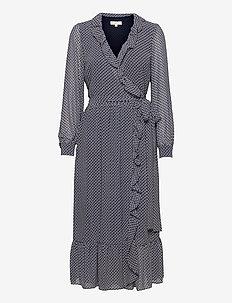 MINI BICOLOR 60S FLRL DRS - alledaagse jurken - mdntbl multi