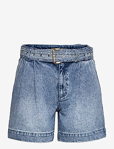 PLEATED BELTED DNM SHORT - korte jeansbroeken - vtg cs wsh