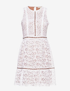 MINI MOD FLRL DRESS - WHITE