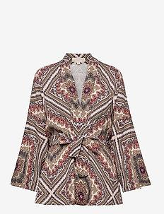 MAGNF MEDAL KIMONO - kimonos - powder blush