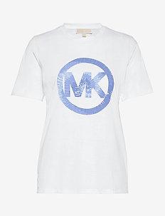TIEDYE MK CRCL TSHIRT - t-shirts - crew blue