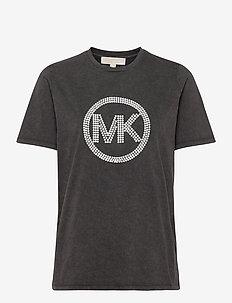 WASH HT MK EMB TSHRT - logo t-shirts - black