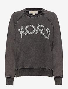 KORS LOGO SWEATSHIRT - sweatshirts - black