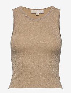 METALLIC CROP TANK - blouses zonder mouwen - khaki