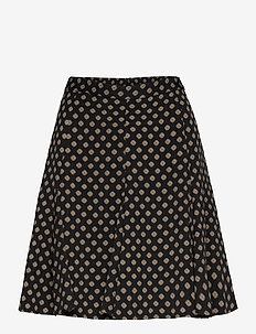 FRAMED GODET SKIRT - jupes courtes - black