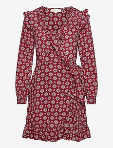 LUX PINDOT WRAP DRS - robes midi - maroon
