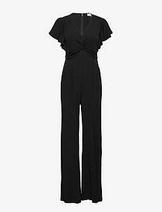 ELV FRONT TWIST JMPST - jumpsuits - black