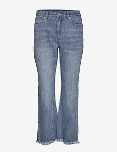 CRPD FLARE W INSERT - flared jeans - mediumindigo