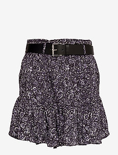 HIPPIE FLWR MINI SKIRT - korta kjolar - deep purple