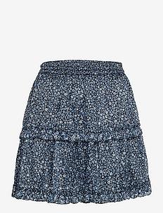 MINI FLORAL MINI SKIRT - korte nederdele - chambray