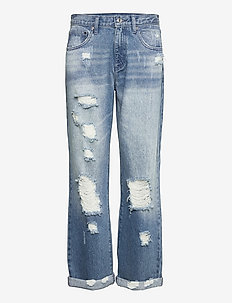 UNISEX  DNM PNT DISTRESSD - straight jeans - authenticblu