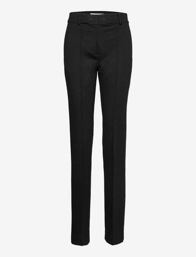 SLIM BOOTCUT PANT W SLIT - slim fit broeken - black