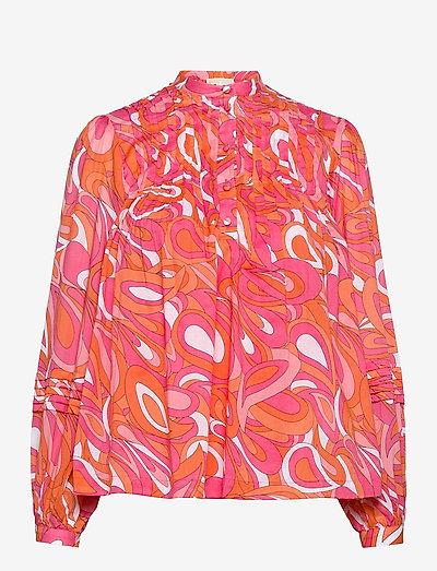 GROOVY SWIRL TOP - blouses met lange mouwen - white multi