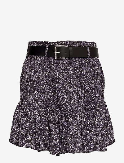 HIPPIE FLWR MINI SKIRT - korte rokken - deep purple