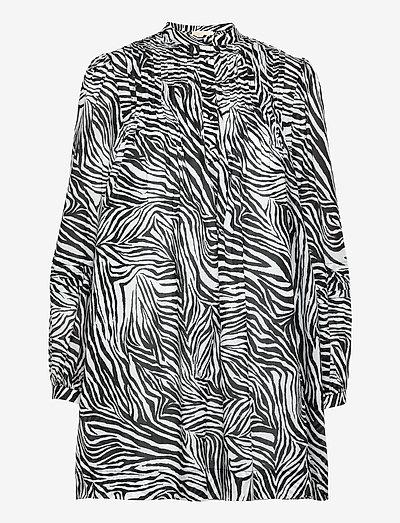 CTN LAWN ZEBRA MINI DRS - zomerjurken - white/black